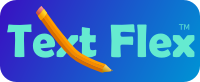 Text Flex graphic logo